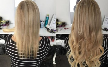 styling With Tape In Hair Extensions Curly Half up Half Down
